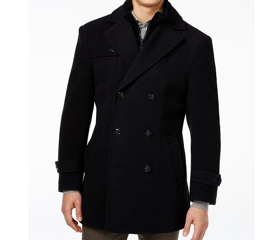 Mens Double Breasted Wool Peacoat