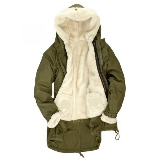 Mens-Fishtail-Parka-Olive-Green-Shearling-Wool-Lined-Jackets