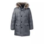 Men's Grey Down Parka Jacket