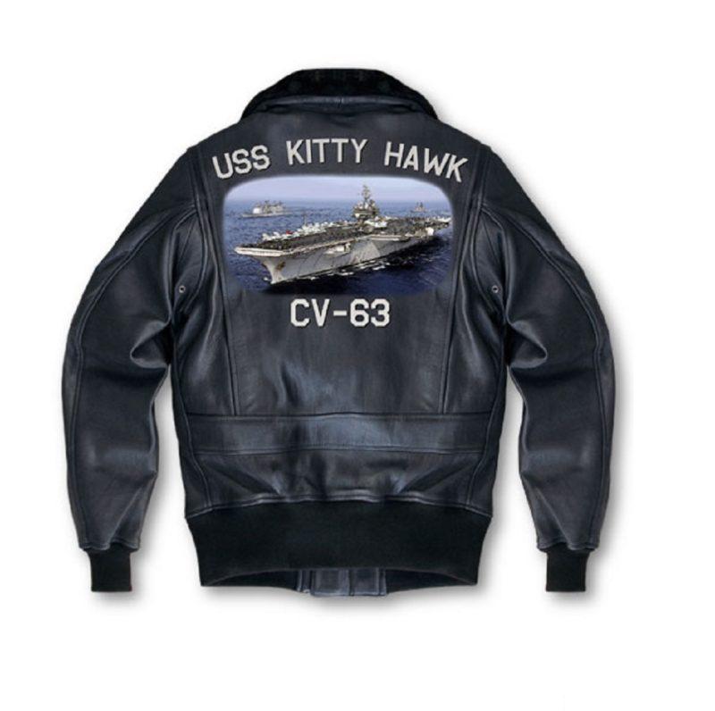 Mens Hand Pianted Navy G-1 Jacket