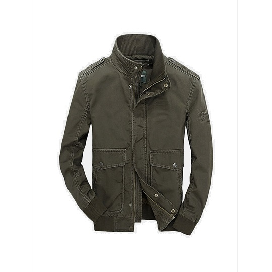 Mens Military Outdoor Green Casual Field Jacket