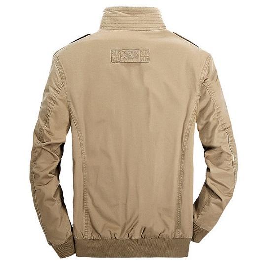 Mens Military Outdoor Khaki Casual Field Jacket-