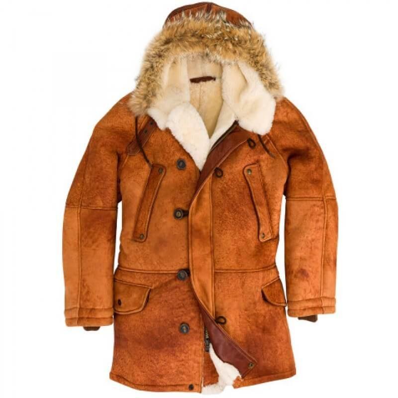Men's N3B Sheepskin Parka Jacket