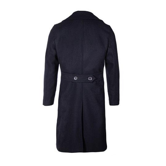 Men's Naval Officers Long Navy Blue Overcoat-