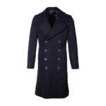 Men's Naval Officers Long Navy Blue Overcoat