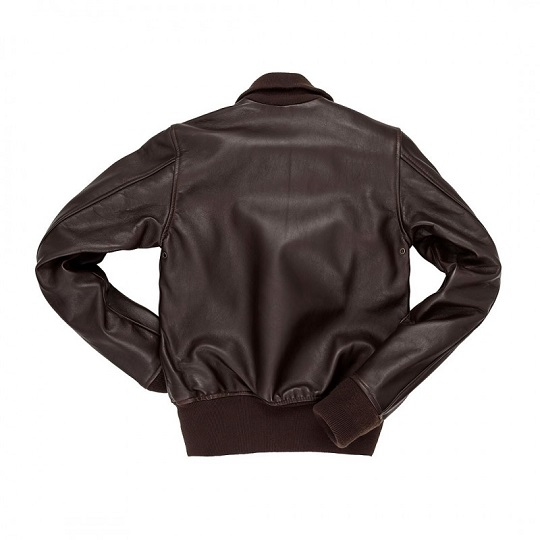 Mens Navy Style Chocolate Brown Flight Leather Jacket-