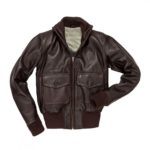 Mens Navy Style Chocolate Brown Flight Leather Jacket