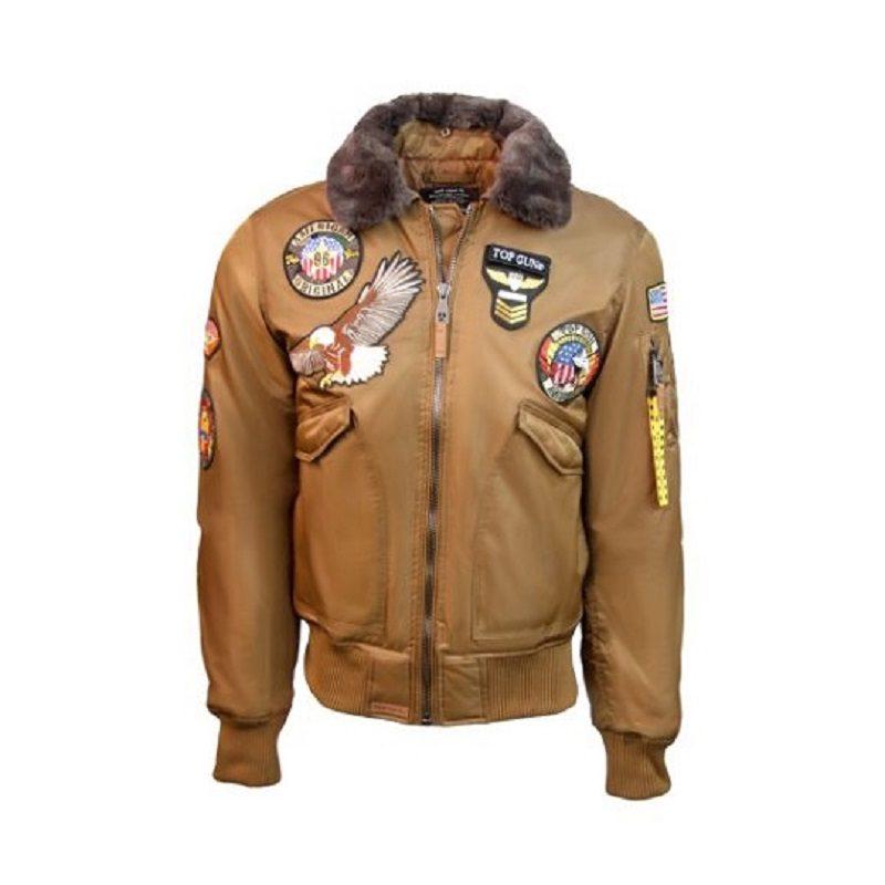 Mens Top Gun Brown American Original MA-1 Jacket