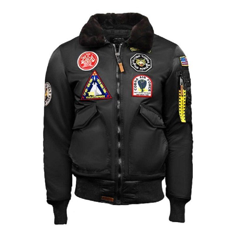 Mens Top Gun Eagle CW45 Black Jacket