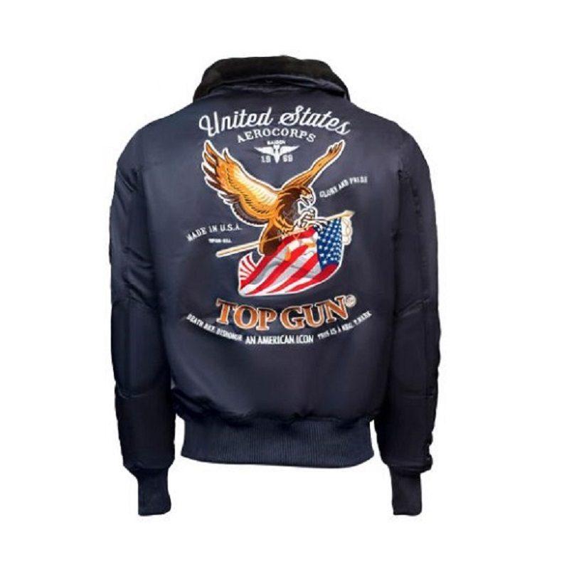 Mens Top Gun Eagle CW45 Blue Jacket-