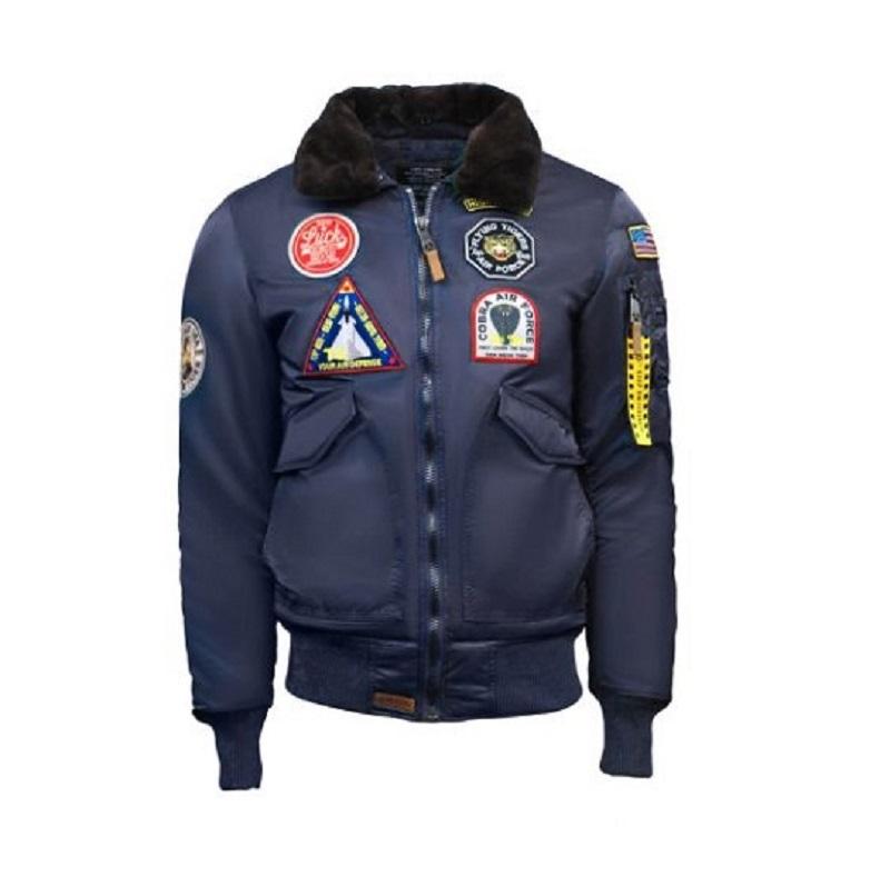 Mens Top Gun Eagle CW45 Blue Jacket