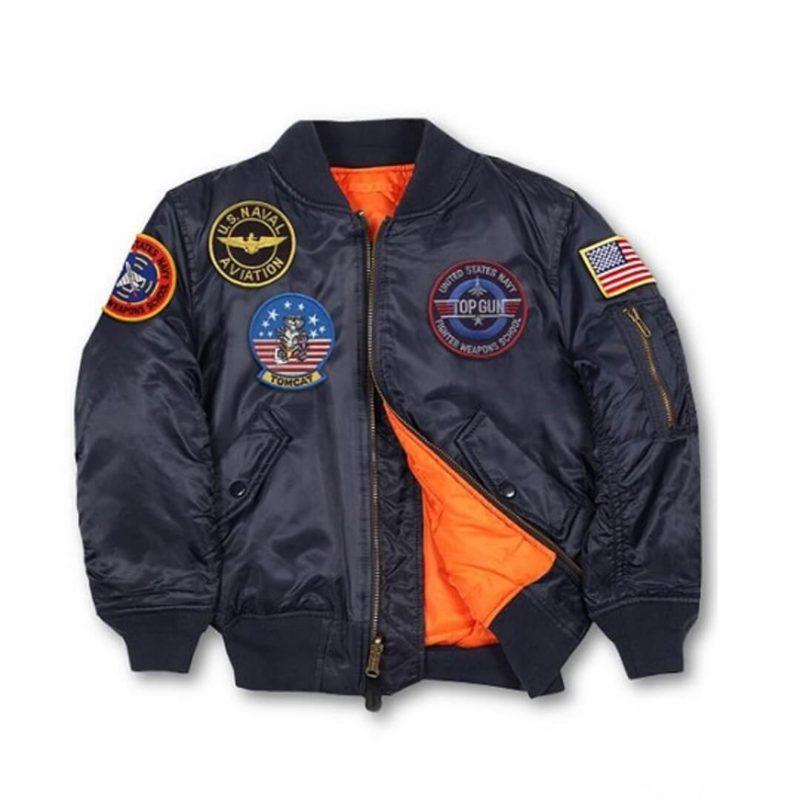 Mens Top Gun MA-1 Ink Blue Jacket