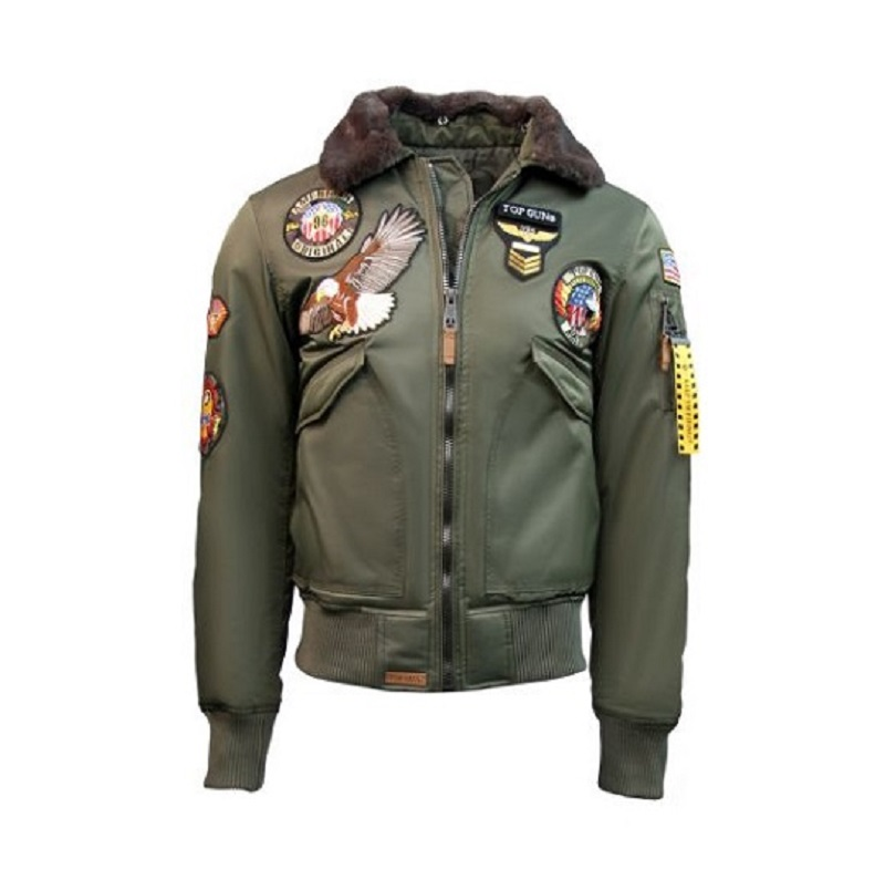 Mens Top Gun Black American Original MA-1 Jacket