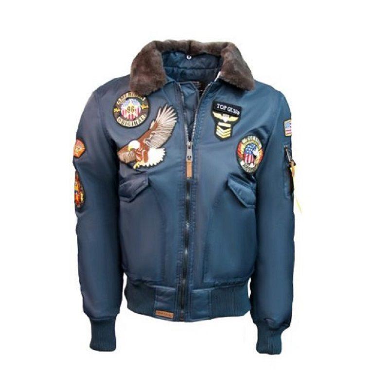 Mens Top Gun blue American Original MA-1 Jacket