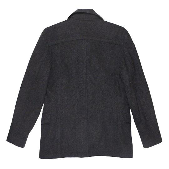 Men's US Navy Jet Grey Short Wool Peacoat-
