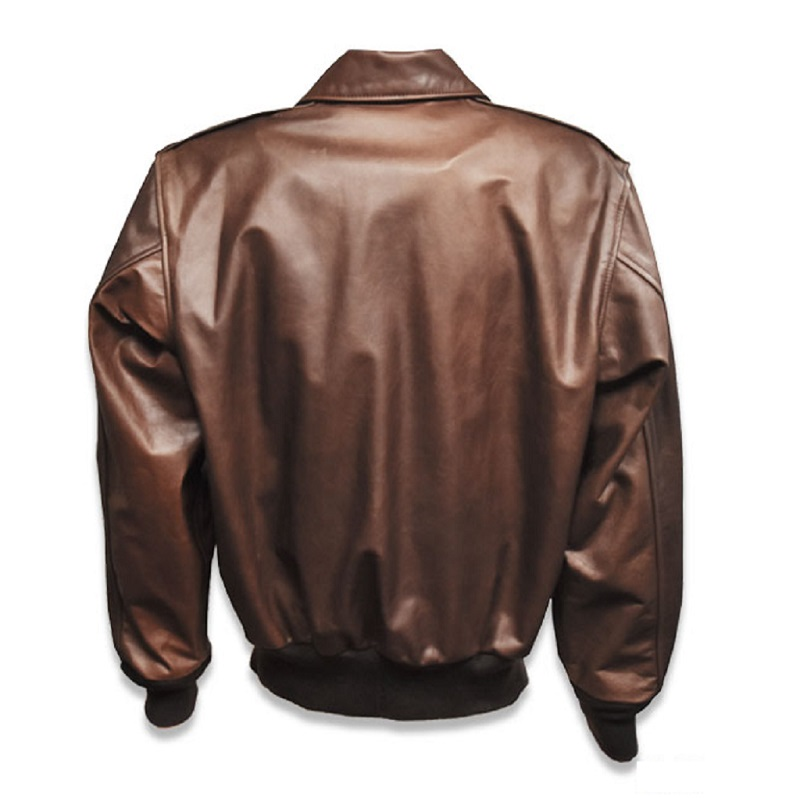Mens WWII Cowhide A-2 Bomber Jacket-