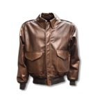 Mens WWII Cowhide A-2 Bomber Jacket