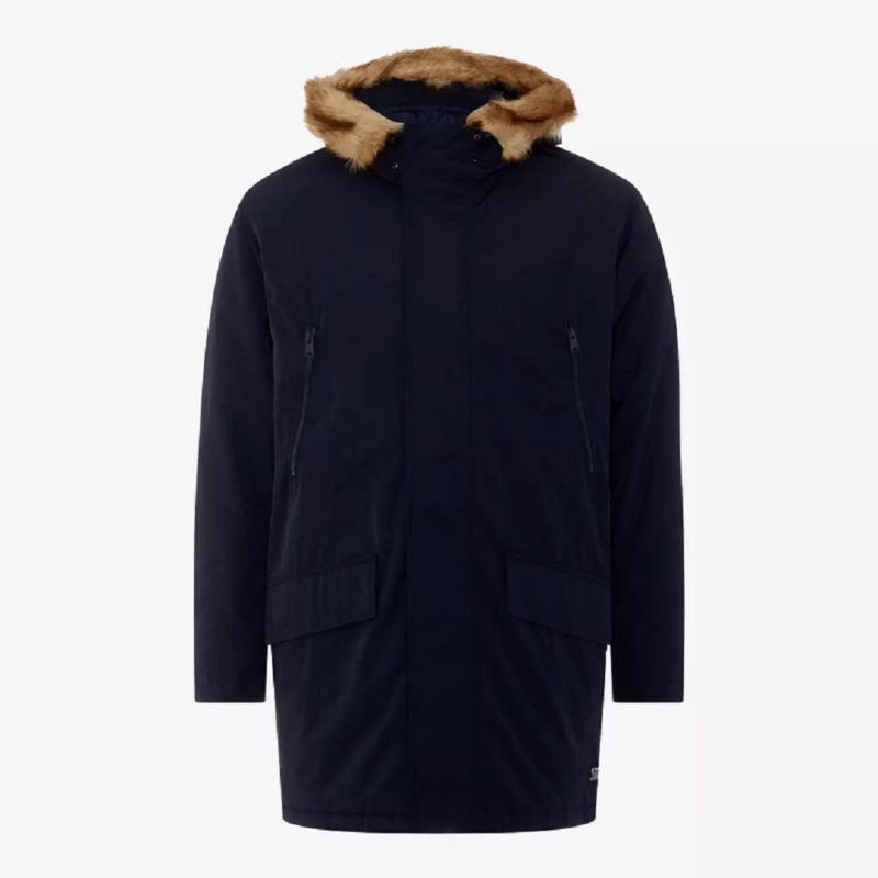 Men's Woodside Navy Blue Parka Jacket