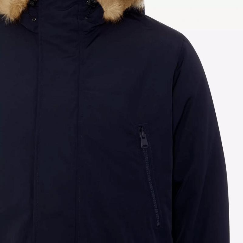 Men's Woodside Navy Blue Parka Jackets