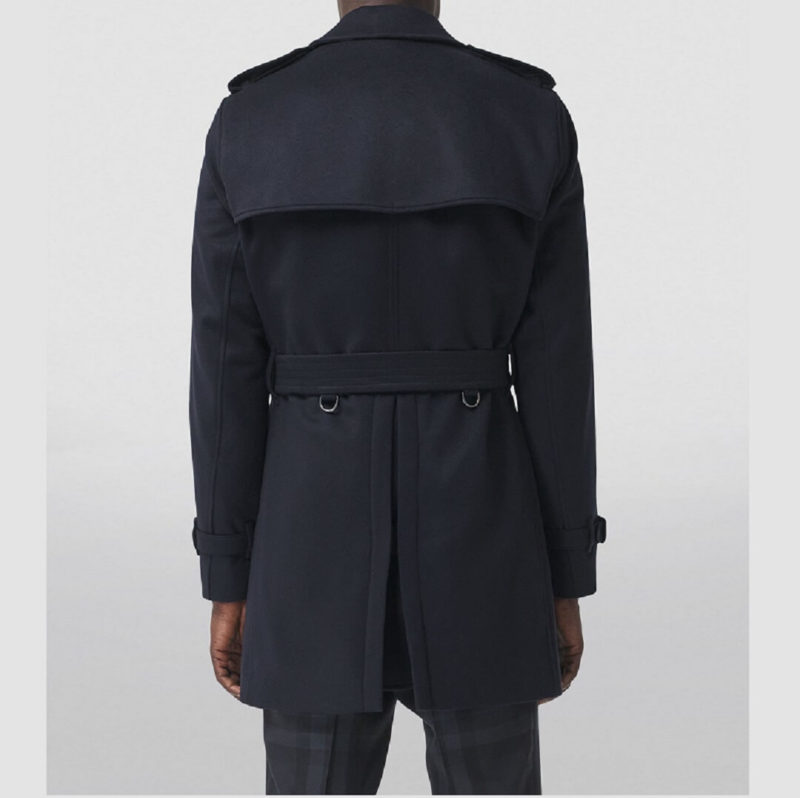 Mens Wool Blue Long Trench Coats