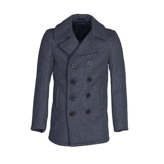 Mens-classic-Ash-Grey-naval-wool-peacoat