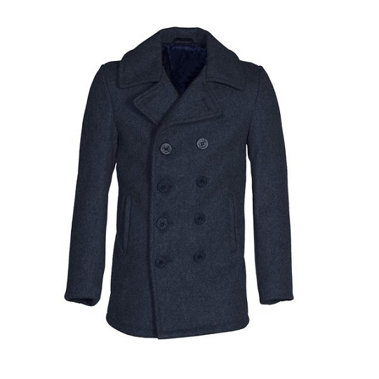 Mens-classic-Grey-naval-wool-peacoat