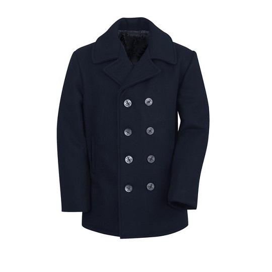 Mens-classic-dark-navy-blue-naval-wool-peacoat