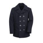 Mens-classic-black-naval-wool-peacoat