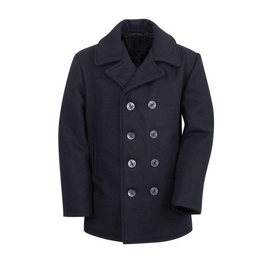 Mens-classic-light-Navy-blue-naval-wool-peacoat