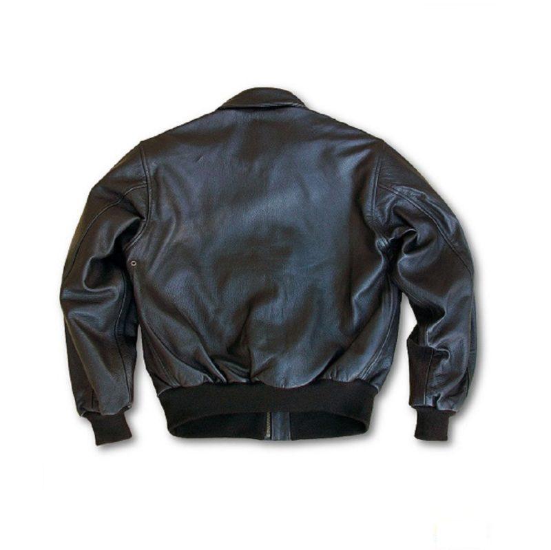 Mens goatskin Leather A-2 Bomber Jacket