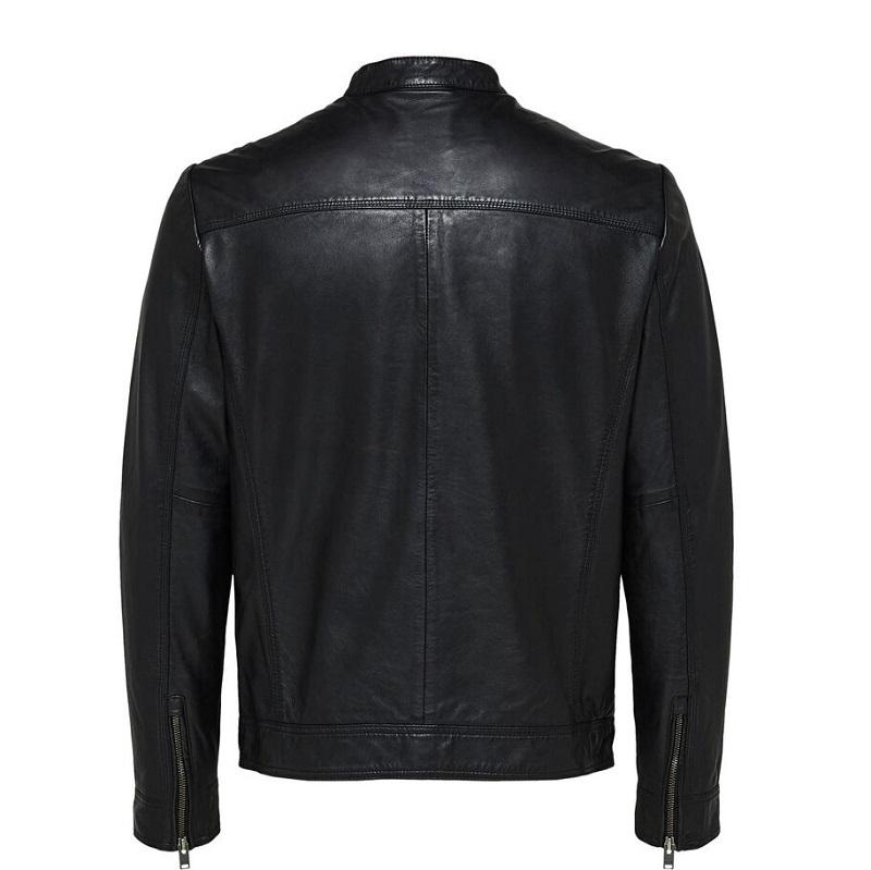 Motorcycle Lambskin Leather Jacket-