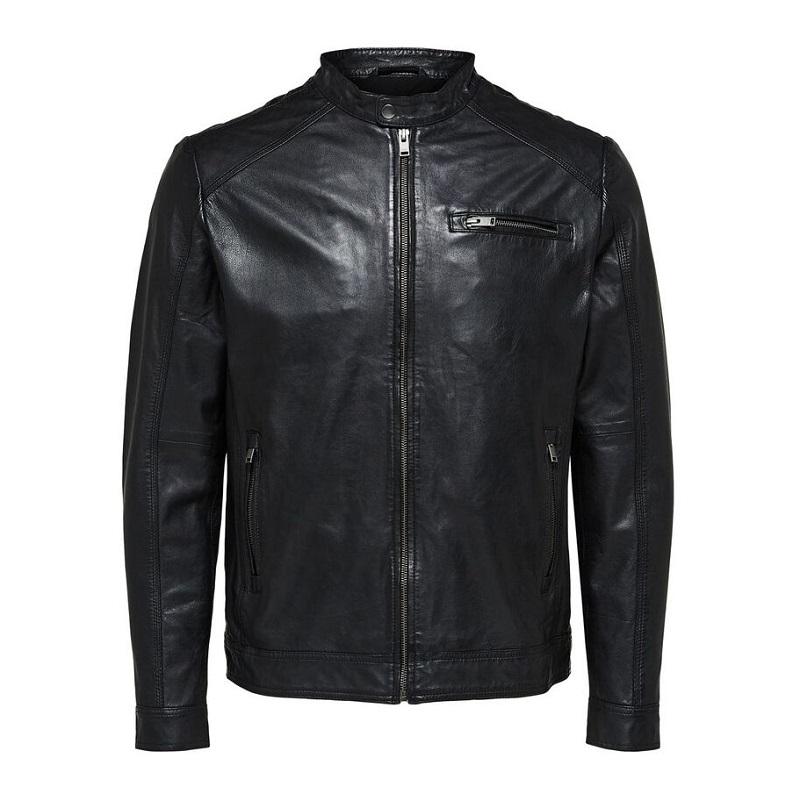Motorcycle Lambskin Leather Jacket