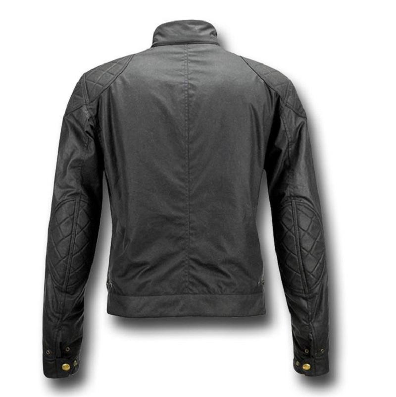 Motorcycle Leather Black Jacket-