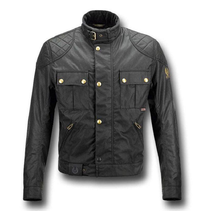 Motorcycle Leather Black Jacket