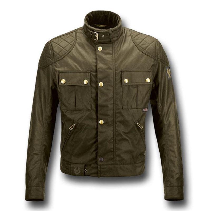 Motorcycle Leather Olive Jacket