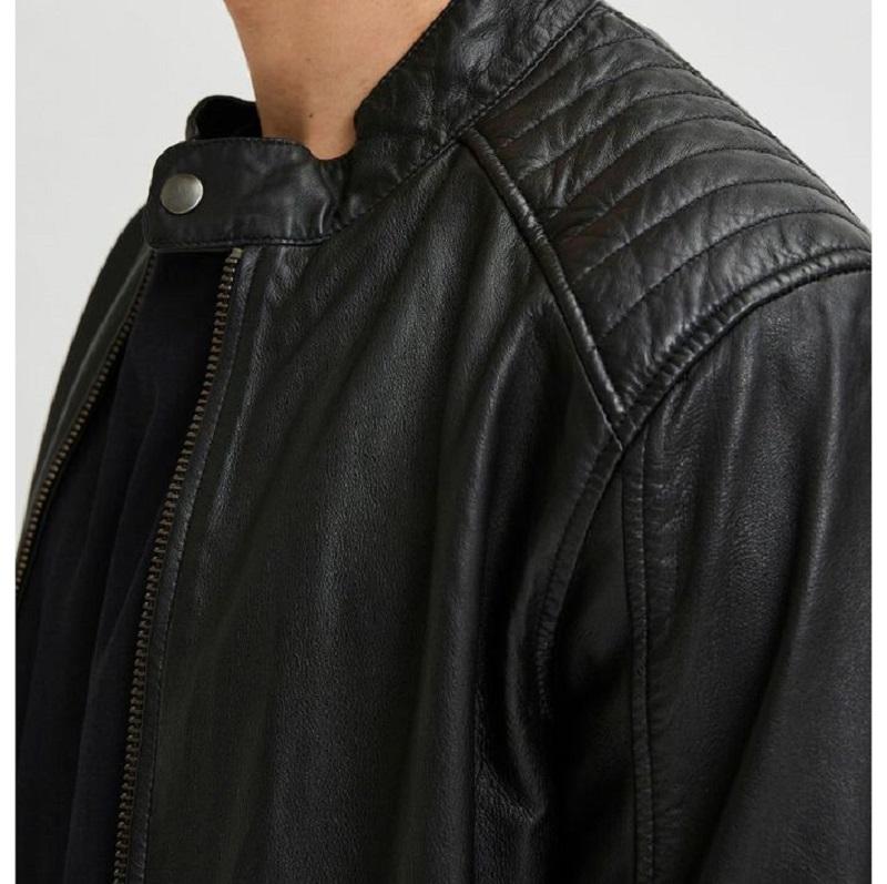 Racer Leather Black Jacket-