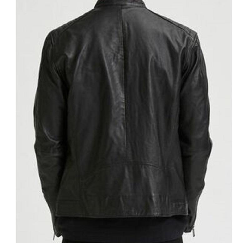 Racer Leather Black Jacket