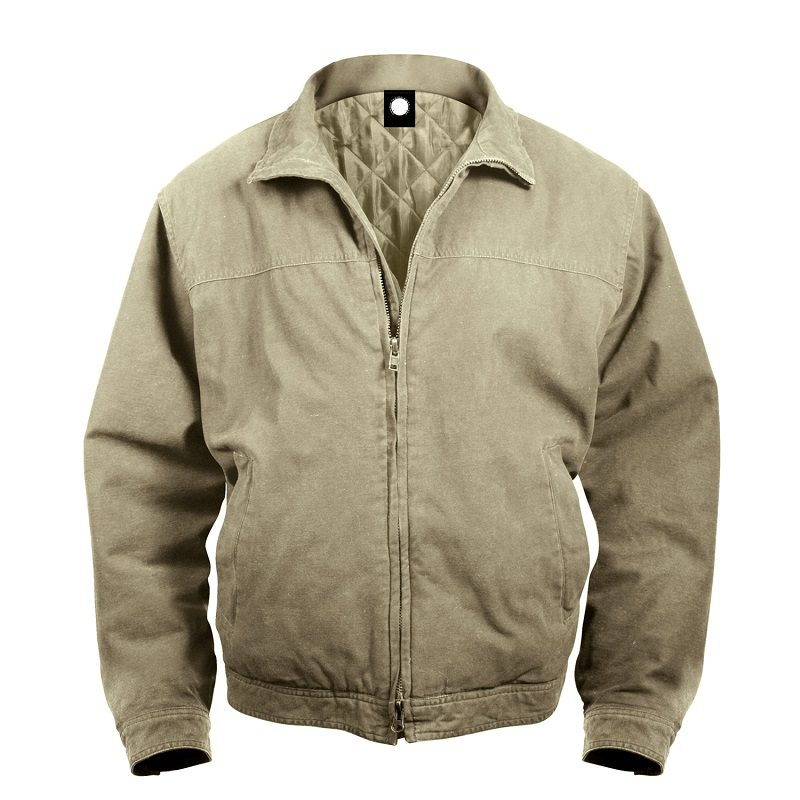 Rothco Mens Concealed Carry 3 Season Beige Jacket