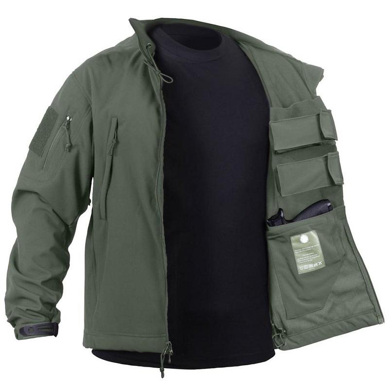 Rotho Concealed Carry Mens Jacket Blue Olive