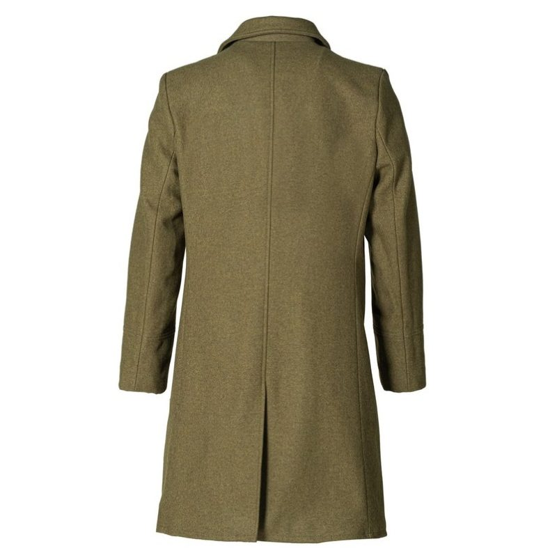 Single Breasted Officer's Coat Olive-