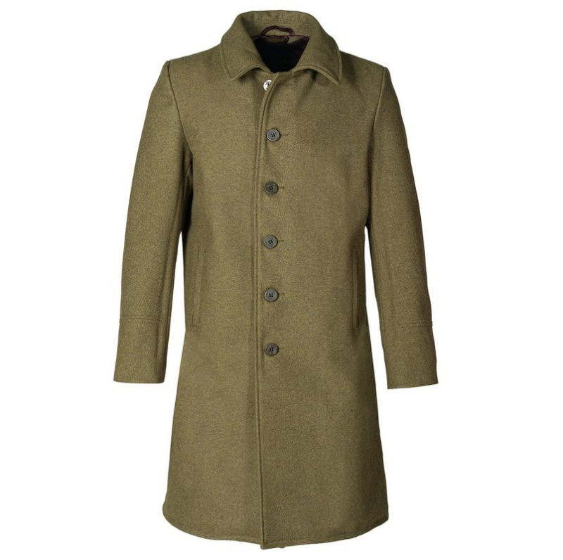 Single Breasted Officer's Coat Olive