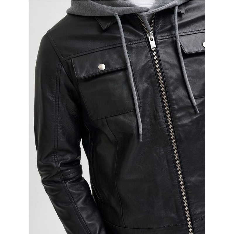 Soft Lamb Leather Biker Jacket-