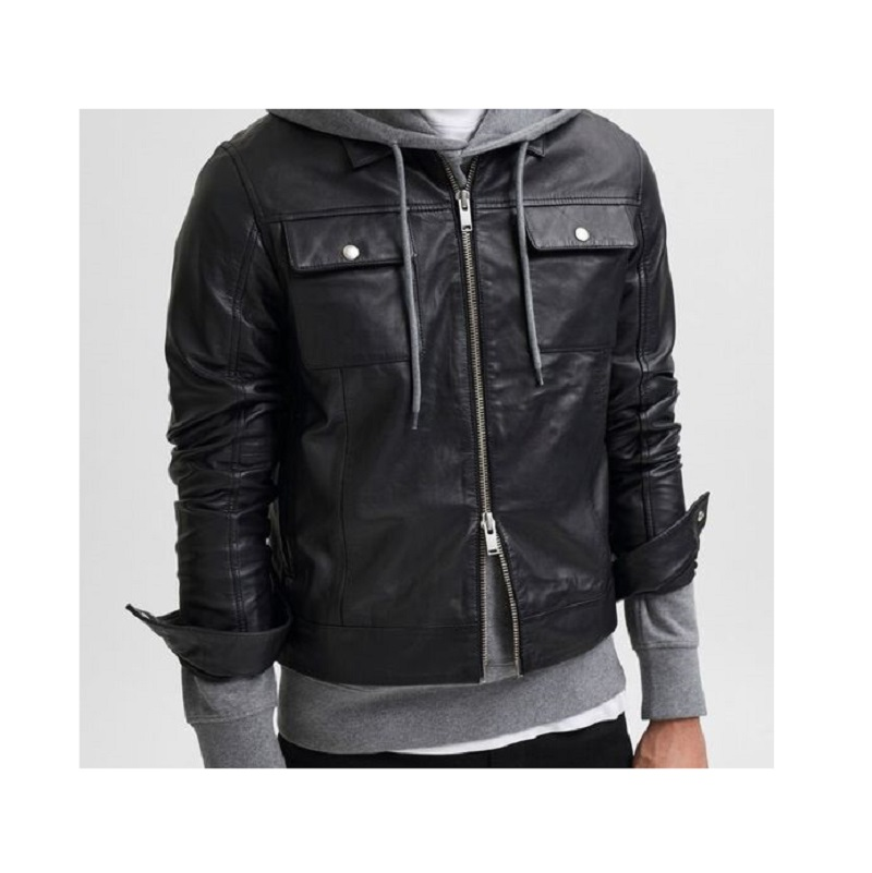 Soft Lamb Leather Biker Jacket.