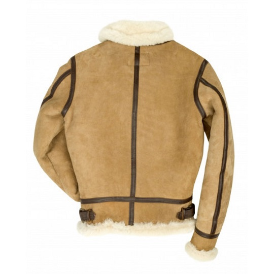 Women B-3 Bomber Sand Brown Suede Leather Jacket-
