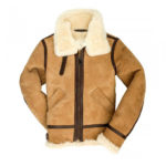 Women-B-3-Bomber-Chocolate-Brown-Suede-Leather-Jacket