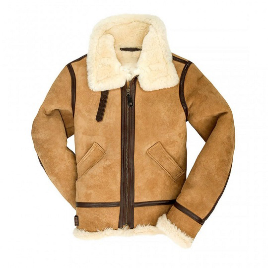 Women-B-3-Bomber-Sand-Brown-Suede-Leather-Jacket
