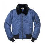 Women-B-3-Bomber-Sapphire-Shearling-Collar-Satin-Jacket