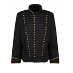 military parade jacket black