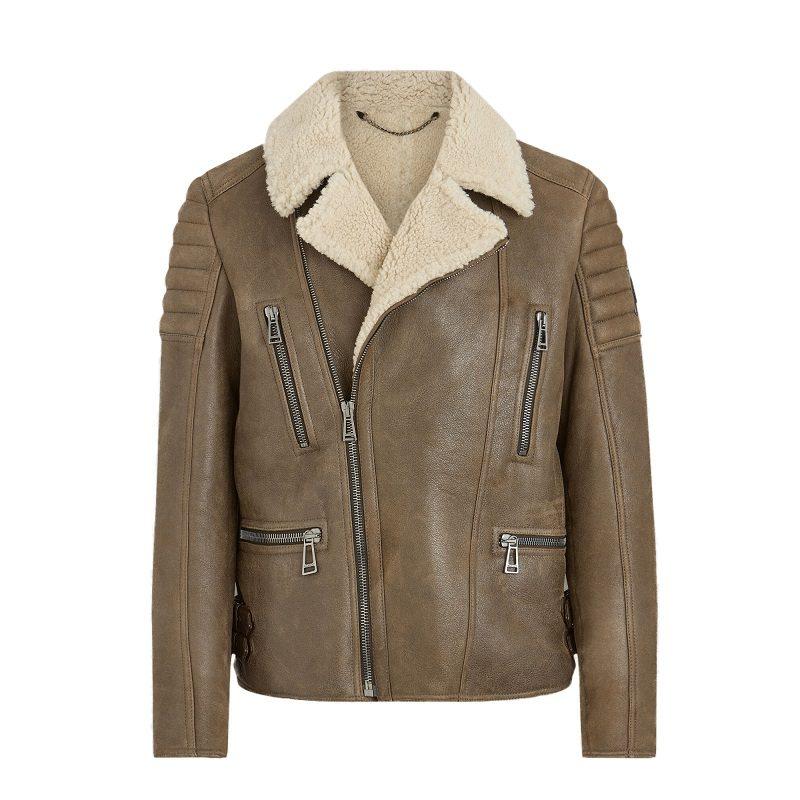 Brown Vintage Shearling Jacket