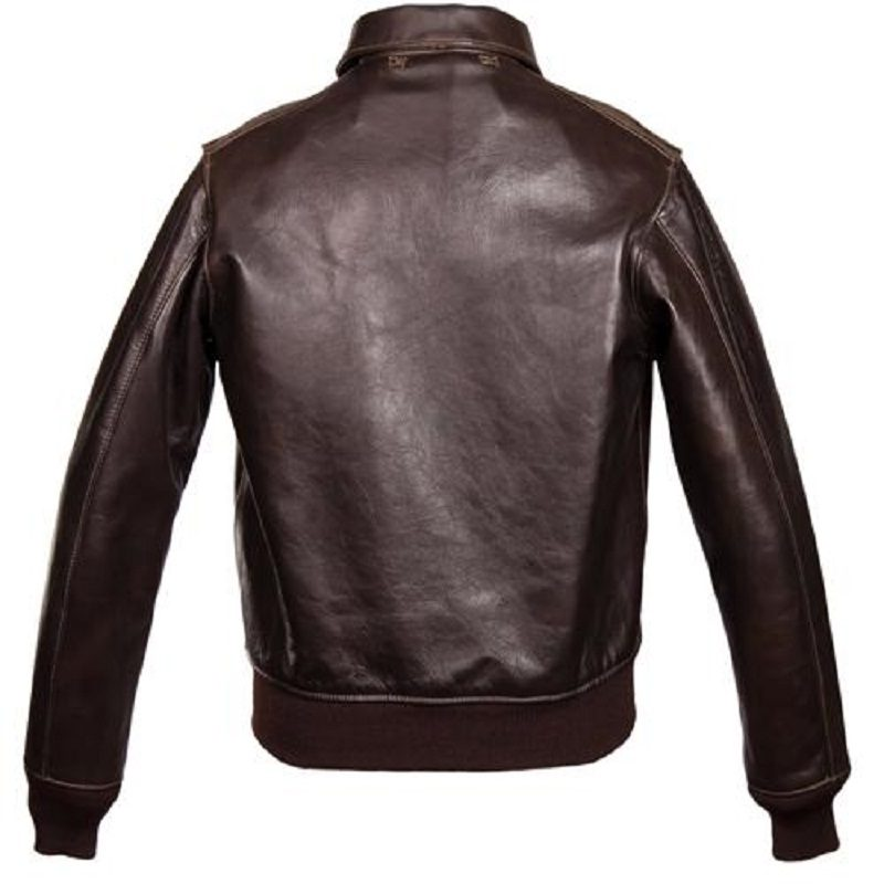 Chocolate Brown A-2 Bomber Jacket-